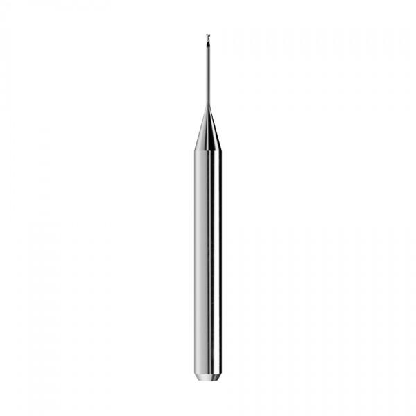 VHM-Schaftfräser Ø0,6mm, optimiert für die Zirkonoxid, PMMA, PEEK, Wachs-Bearbeitung