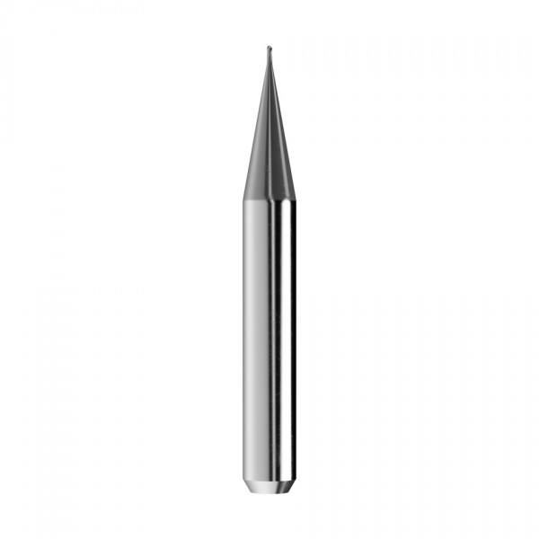 VHM-Radiusfräser Ø0,6mm, optimiert für die CoCr, Titan-Bearbeitung