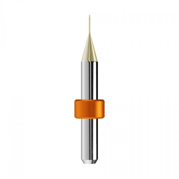 VHM-Radiusfräser Ø0,6mm, optimiert für die Zirkonoxid, PMMA-Bearbeitung