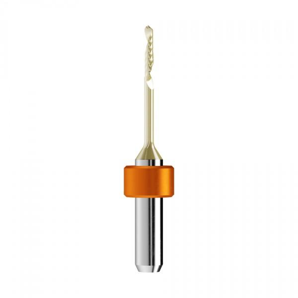 VHM-Radiusfräser Ø2mm, optimiert für die PMMA, PEEK, Wachs-Bearbeitung