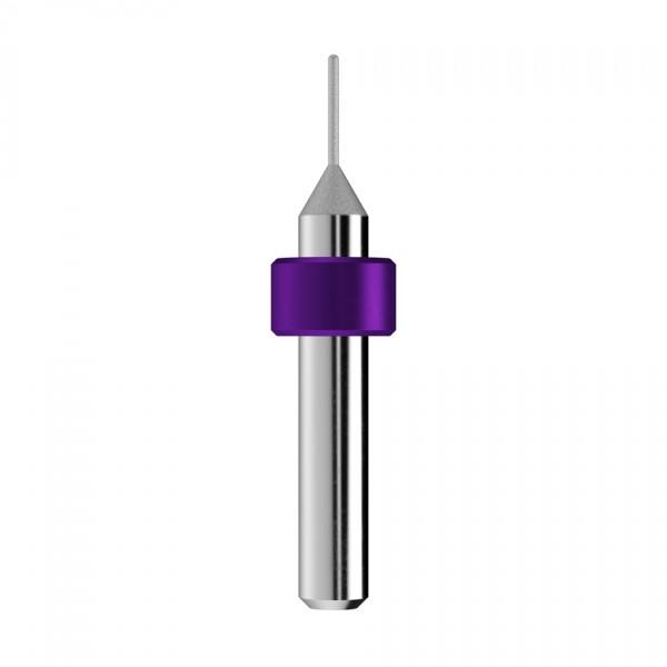 Diamantschleifstift Ø1mm, optimiert für die Glas-/Hybridkeramik-Bearbeitung