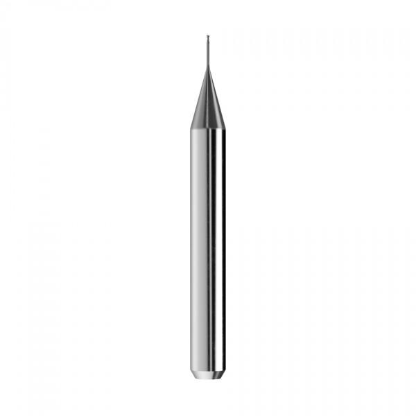 VHM-Schaftfräser Ø0,5mm, optimiert für die Titan-Bearbeitung
