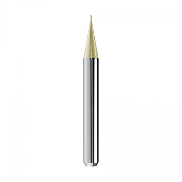 VHM-Radiusfräser Ø0,6mm, optimiert für die Gold-Bearbeitung