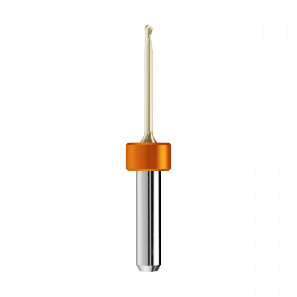 VHM-Radiusfräser Ø2mm, optimiert für die Zirkonoxid, PMMA-Bearbeitung