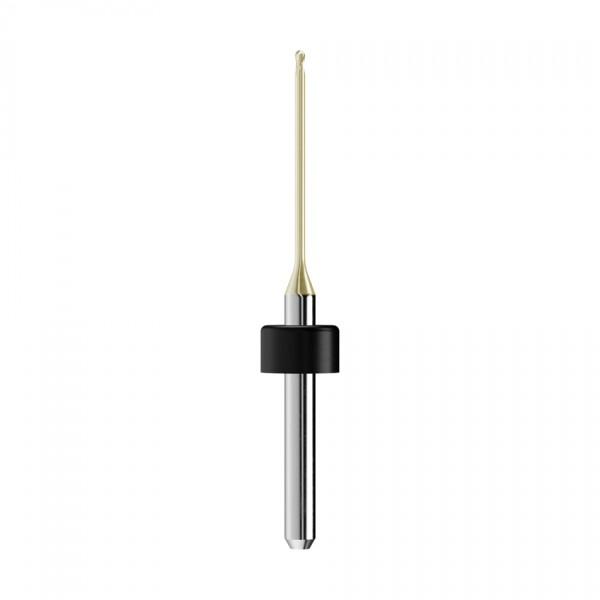 VHM-Radiusfräser Ø1mm, optimiert für die Zirkonoxid, PMMA, Wachs-Bearbeitung