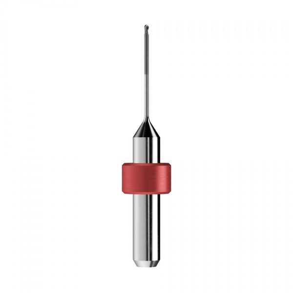 VHM-Radiusfräser Ø1mm, optimiert für die Zirkonoxid-Bearbeitung
