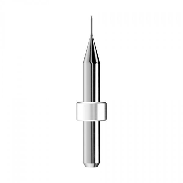 VHM-Radiusfräser Ø0,6mm, optimiert für die Zirkonoxid, PMMA, Wachs-Bearbeitung