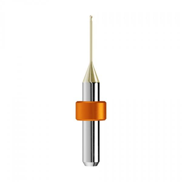 VHM-Radiusfräser Ø1mm, optimiert für die Zirkonoxid, PMMA-Bearbeitung