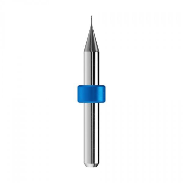 VHM-Radiusfräser Ø0,5mm, optimiert für die Titan, CoCr-Bearbeitung