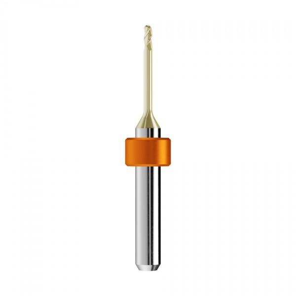 VHM-Radiusfräser Ø2mm, optimiert für die Zirkonoxid-Bearbeitung