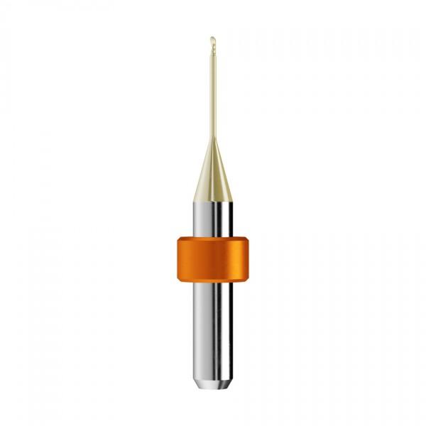 VHM-Radiusfräser Ø1mm, optimiert für die PMMA, PEEK, Wachs-Bearbeitung
