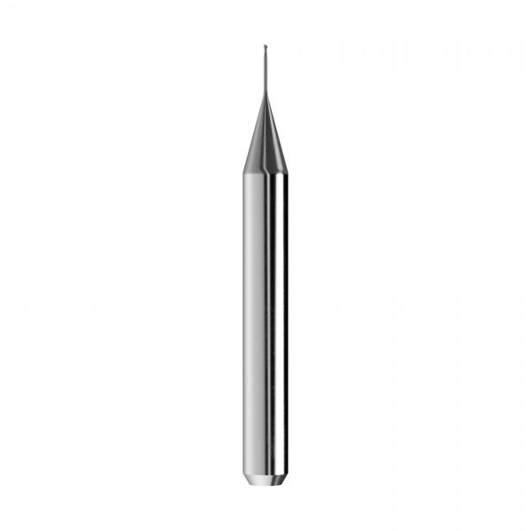 VHM-Radiusfräser Ø0,5mm, optimiert für die CoCr, Titan-Bearbeitung