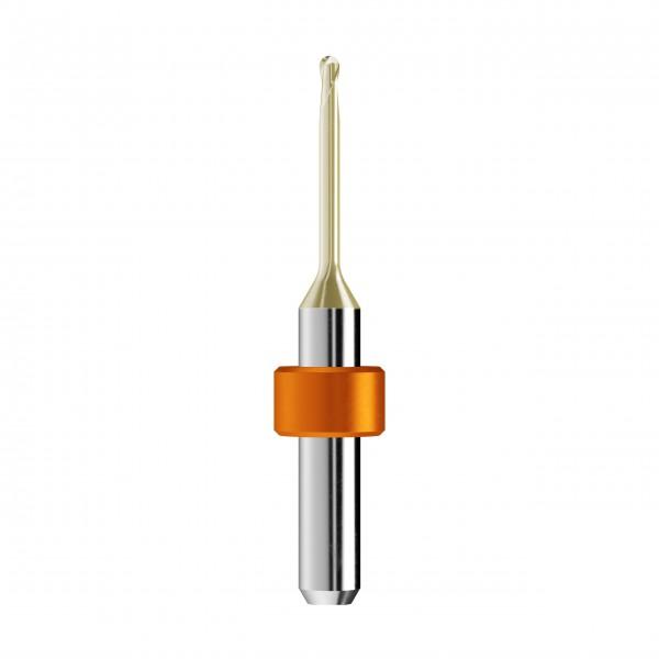 VHM-Radiusfräser Ø2mm, optimiert für die Zirkonoxid, PMMA